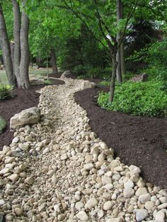 Image result for river rock bed to slow water