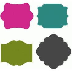 Silhouette Design Store - View Design #54509: set of 4 tag shapes
