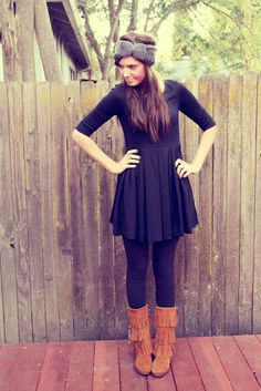 Minnetonka Boots with Black Dress