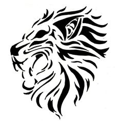 Awesome Tribal Lion Tattoo design