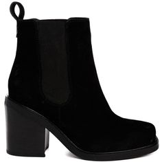 ASOS ESCAPE PLAN Leather Chelsea Ankle Boots (1.295 UYU) ❤ liked on Polyvore featuring shoes, boots, ankle booties, botas, black, ankle boots, leather boots, black leather bootie, black bootie and leather ankle booties