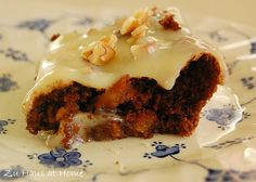 Chocolate Apple Brownies with Dulce de Leche Frosting
