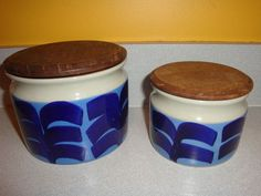 Two Rorstrand Sweden Covered Cannisters Pots Swedish   eBay