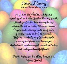 Ostara blessings from sagegoddess.com