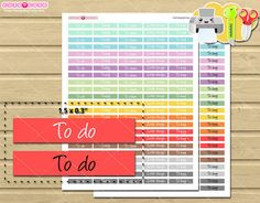 Headers Labels small boxes Printable planner stickers