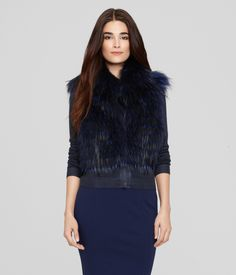 Long live the queen. This 100% fox fur vest – dyed in our most regal fall shades - is fit for a royal.