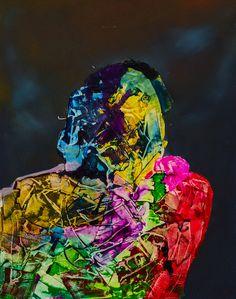 """""""Druga z cyklu głowa""""  Obraz oryginalny, dostępna tylko jedna sztuka. Autor: Maciej Durski Technika: olej Rok 2017  ENG """"Second head from the cycle"""" Original image, only one piece available. Author: Maciej Durski Technique: oil Year 2017"""