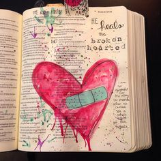 I have walked through some brokenness in my own heart. But watching… Scripture Art, Bible Art, Scripture Doodle, Bible Book, Bible Prayers, Bible Scriptures, Bible Study Journal, Art Journaling, Prayer Journals