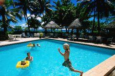 Family fun in the pool, Treasure Island Resort, Treasure Island.