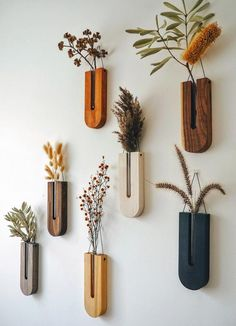 Wooden Vase, Hanging Planters, Wall Mounted Planters Indoor, Wall Planters, Diy Wall Planter, Wall Vases, Plant Decor, Diy Home Decor, Handmade Home Decor