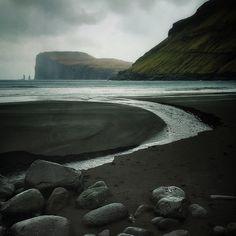 Black Sand Beach, Tjørnuvik, Faroe Islands - 2014 - Archival pigment print.