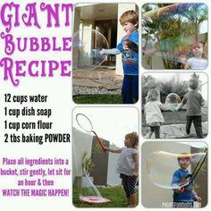 Huge bubble recipe
