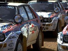 1992: Lancia Delta Integrale's of Juha Kankkunen, Jorge Recalde, and Bjorn Waldegaard