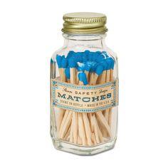 Mini Safety Match Bottle - Blue