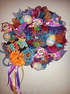 Fiesta wreath by Tara/ 2 Charming Chicks