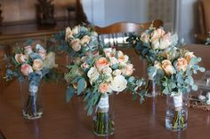 Bloom & Vine Rustic peach bouquets