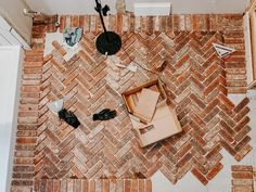 Brick Flooring, Küchen Design, Floor Design, Home Reno, First Home, My Dream Home, Home Projects, Future House, Home Remodeling