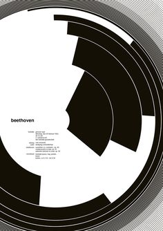 Came across these interesting variations of the great Josef Muller Brockmann's Beethoven poster and was pleased to see the alternate use of negative space. These variations were created during a 10...