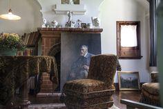 Michael Ancher's studio - portrait of J.F. Willumsen, a study for Ancher's 'Art critics'