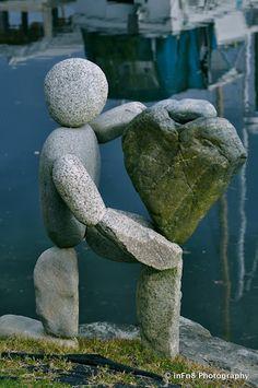 Beautiful Pebble/Stone Art at Winslow Wharf Marina   MXDTHINGZ