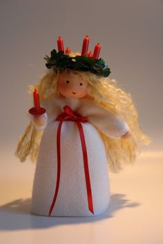 Santa Lucia  Christmas Flower Child  Waldorf by KatjasFlowerfairys, €33.00