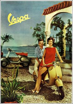 Vespa-GS-160-1950s-Classic-Scooter-Picture-Poster-Print-A1-3-variations