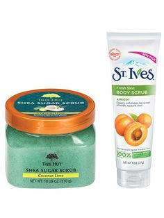 2016 Readers' Choice Award-Winning Beauty Products: Tree Hut Coconut Lime Shea Sugar Scrub and St. Ives Fresh Skin Apricot Body Scrub | Allure.com