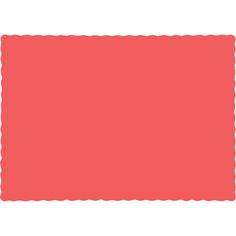 Touch of Color Coral Solid Color 4-Ply Place Mats 863146B