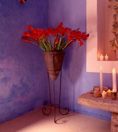 Mexican blue walls #Mexico #blue walls #Mexican decoration #wall color