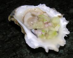 Oysters with a Champagne Cucumber Mignonette Recipe on Yummly Seafood Recipes, New Recipes, Favorite Recipes, Shellfish Recipes, Sushi Recipes, Mignonette Recipe, Baked Oyster Recipes, Sauces, Raw Oysters
