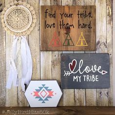 Good morning!! Who\'s ready for our FIFTH giveaway?? We\'re halfway through! . This giveaway bundle includes the following: -Vintage Doily Hoop >> @earthcookiecreates -Find Your Tribe sign >> @projectfindjoy -Love My Tribe sign>> @selahsigns -Suede-wrapped Tribal sign >> @eastplum . TO ENTER: -Follow us + the shops above -Comment below with someone in your tribe ❤️ -Tag a friend for an extra entry (tag as many *real friends* as you please, one per comment!) -Done! >>Giveaway closes 5/12 at 10a...