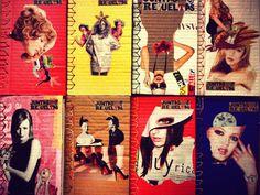 Editorial Cartonera | La Joyita | Collage | Portadas para Juntas y Revueltas, de Elizabeth Cárdenas.