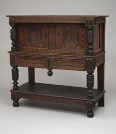 Court Cupboard, 1695-1705. Oak, Maple, Pine. Probably Braintree, Massachusetts. Probably made by Gregory Belcher (1664-1727) Wallace Nutting Collection, Gift of J. Pierpont Morgan, Jr. 1926.291