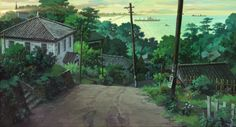 So I heard you like backgrounds. From up on Poppy Hill. Directed by Gorō Miyazaki, scripted by Hayao Miyazaki and Keiko Niwa, and produced by Studio Ghibli. From Up on Poppy Hill (Blu-ray / DVD Combo. Studio Ghibli Background, Animation Background, Environment Concept Art, Environment Design, Hayao Miyazaki, Up On Poppy Hill, Bd Art, Film Anime, Studio Ghibli Art