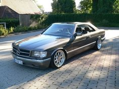 Mercedes-Benz 500SEC W126 on Brabus Monoblock III