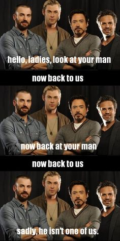 Sadly, he is not one of the Avengers. Or James McAvoy. Or Viggo Mortensen. Or Michael Fassbender. Or Zachary Quinto. Damn it.
