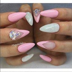 #nails #nail #nailart #nailstagram #nailsaddict #nailsaddicted #nailswag #nailsd ...  #nailart #nails #nailsaddict #nailsaddicted #nailsd #nailstagram #nailswag Pretty Nail Colors, Pretty Nail Designs, Pretty Nails, Nail Art Designs, Cute Almond Nails, Almond Acrylic Nails, Acrylic Nail Art, Nail Swag, Glitter Gel Nails