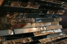 3D Wave Glass Mosaic Tile modern kitchen cabinets