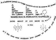 apollinaire calligrammes voyage - Lilo