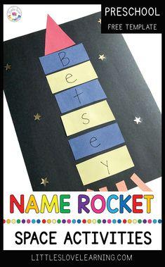 Name Rocket + More Space Activities for Preschool & Pre-K