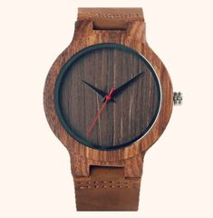 Fashion Top Gift Item Wood Watches Men's Analog Simple Bmaboo Hand-made Wrist Watch Male Sports Quartz Watch Reloj de madera Creative Birthday Gifts, Wooden Watches For Men, Leather Wristbands, Wooden Clock, Handmade Wooden, Fashion Watches, Men's Watches, Casual Watches, Men's Fashion