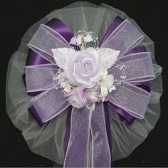 Pink white satin wedding pew bows decorations pinterest pew lavender rose floral and purple wedding pew bows church aisle decorations junglespirit Choice Image