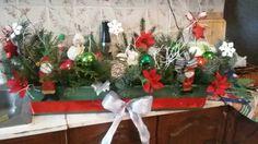 Vánoční truhlík na okno/Chrismas decoration window flower box Christmas Wreaths, Christmas Decorations, Holiday Decor, Outdoors, Indoor, Box, Home Decor, Interior, Snare Drum