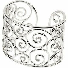 Sterling Silver 3/8 CT TW Diamond Cuff Bracelet Jewelry Adviser Cuff Bracelets. $1164.79