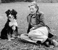 Frances Donaldson with her favourite sheepdog, Meg, in 1943.