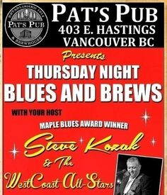 Thursday Night Blues & Brews ... tonight's special guest is Tim Hearsey.