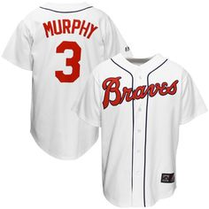 Mitchell And Ness Atlanta Braves 3 Dale Murphy White Throwback Man  Authentic MLB 94eeabe98