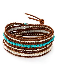 "Chan Luu Turquoise Wrap Bracelet | Imported | 32""L  