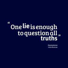 Dishonesty kills faith