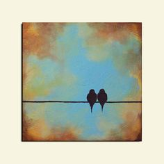 Cool background with bronze and blue for sky and silloute something. (ex these birds on a wire)